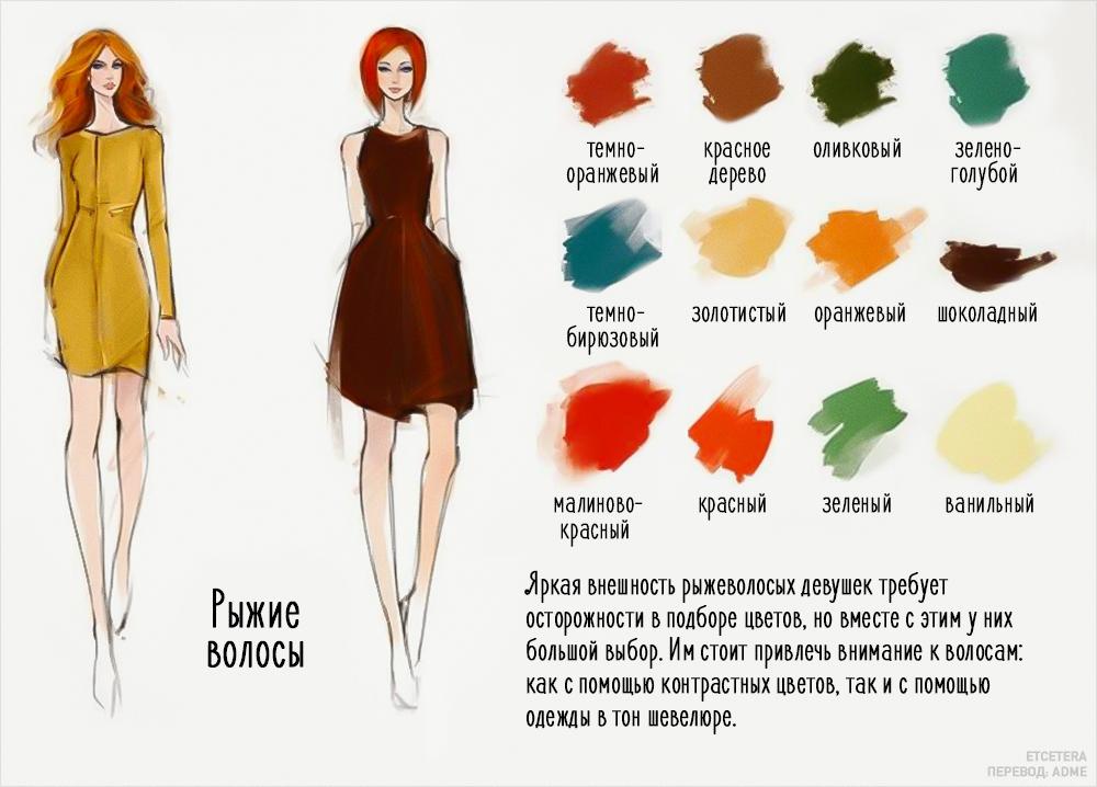 Как подобрать цвет одежды под цвет волос?