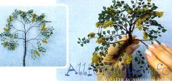 Как сплести бисерное деревце
