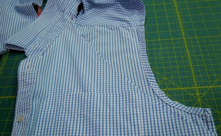 фартук из мужской рубашки своими руками