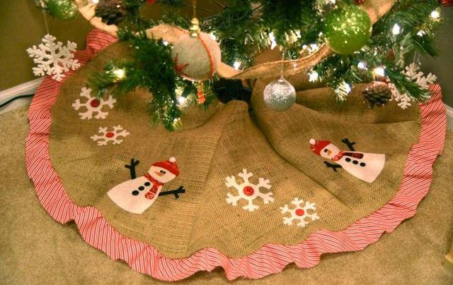 как пошить юбку для елки