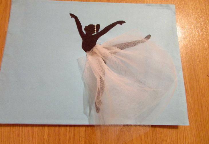 Картина балерины сделать