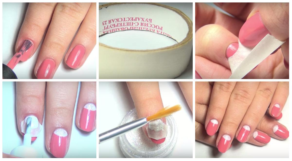 Как сделать лунки на ногтях из геля 725
