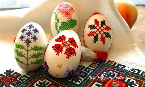 Как красить пасхальные яйца на Пасху ...