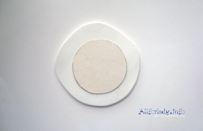 круглые серьги из полимерной глины фото
