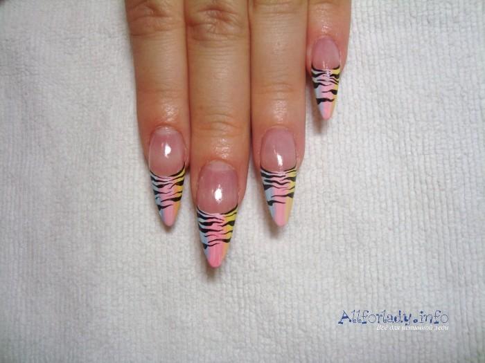 дизайн ногтей акриловыми красками фото: