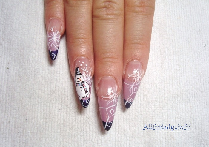 Фото зимнего дизайна ногтей френч