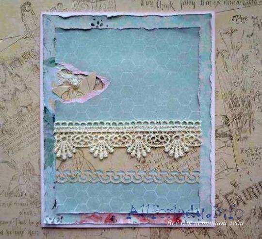 Кружева для открытки