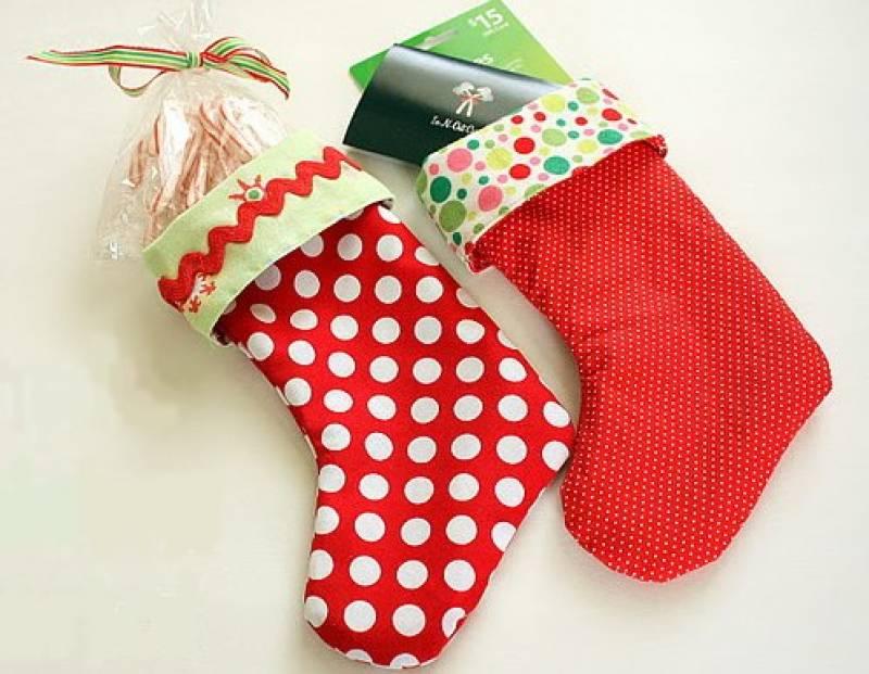Как сделать носки для нового года своими