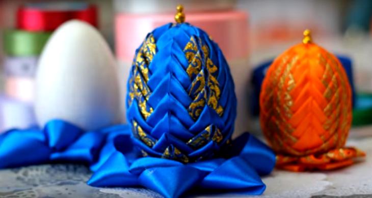 яйцо из лент