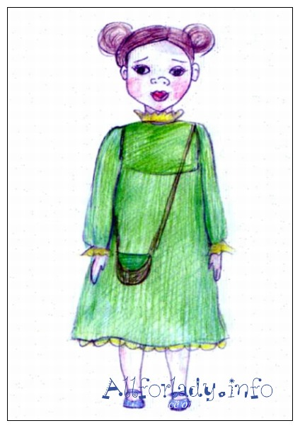 Эскиз будущей куклы