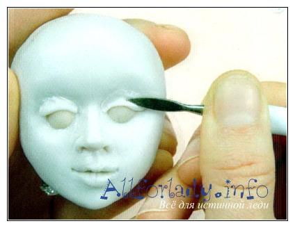 Как сделать веки для куклы