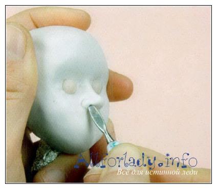 Кукольный носик из пластики