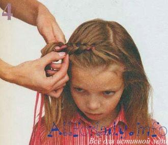 Прическа под обруч для девочки 2