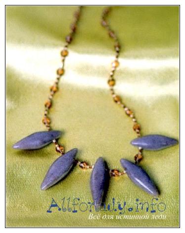 Украшение из бисера и полимерной глины своими руками.  Ожерелье.