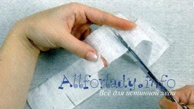 Надрежьте полоску из ткани