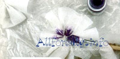 Соберите цветок из ткани