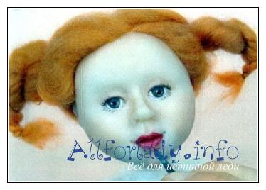 Покраска губ куклы