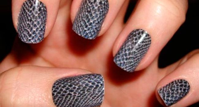 Дизайн ногтей с сеткой фото
