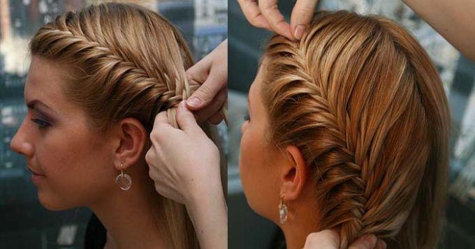 Прически и косы на средние волосы своими