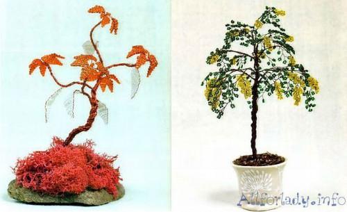 Сплести деревья из бисера своими руками просто.  Для этого нужно знать схемы плетения и пошаговое описание.
