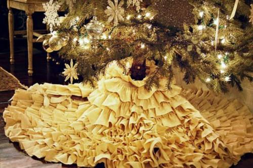 Юбка для елки своими руками