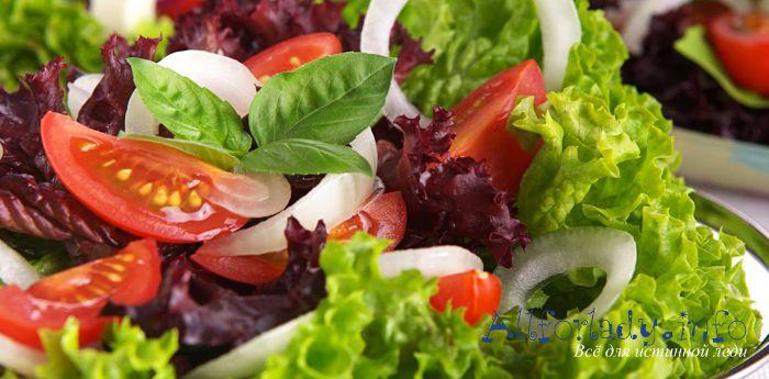 Простые салаты без майонеза рецепты