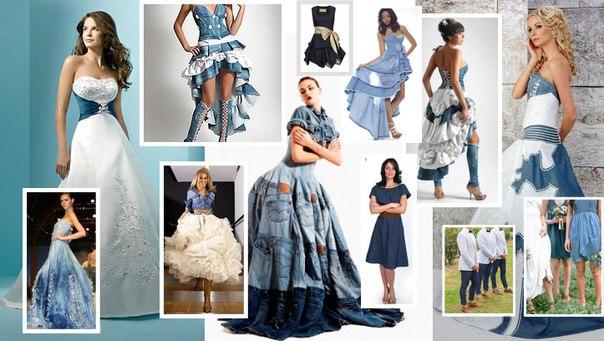Джинсовое платье для свадьбы