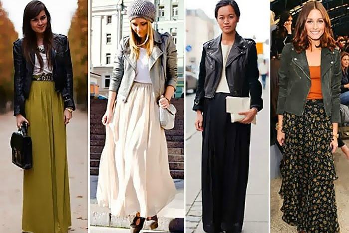 Прямые длинные юбки с чем носить фото