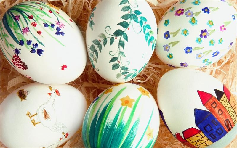 Роспись акварельными красками яиц на Пасху — Всё для леди