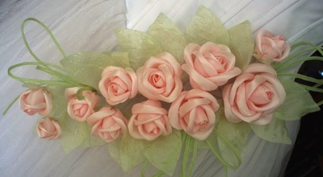 Цветы из органзы своими руками для начинающих