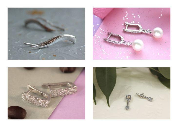 Какие серьги купить? V-gold-585-white-metal-earrings-1